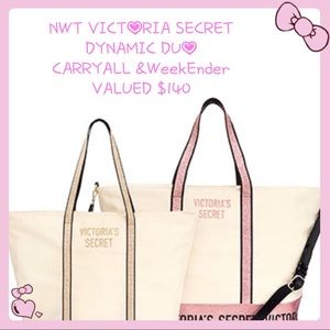 NWT Victoria SECRET SPARKLE ❇️ carryall&WEEKENDER